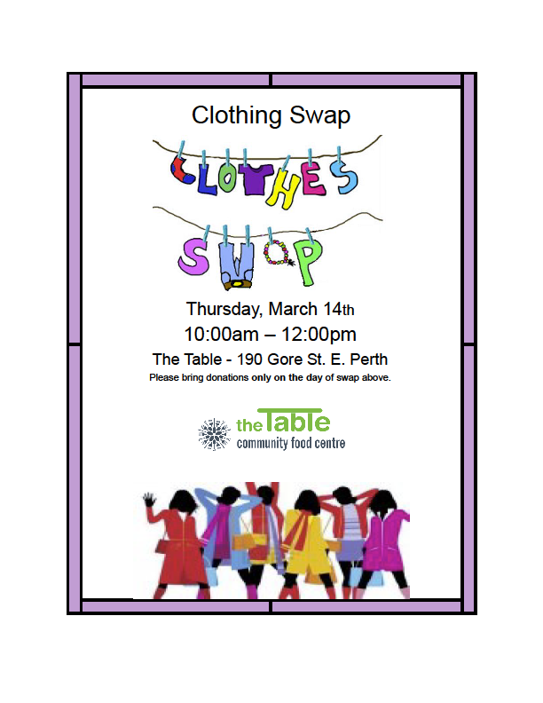 Winter-Spring Clothing Swap | The Table Community Food Centre