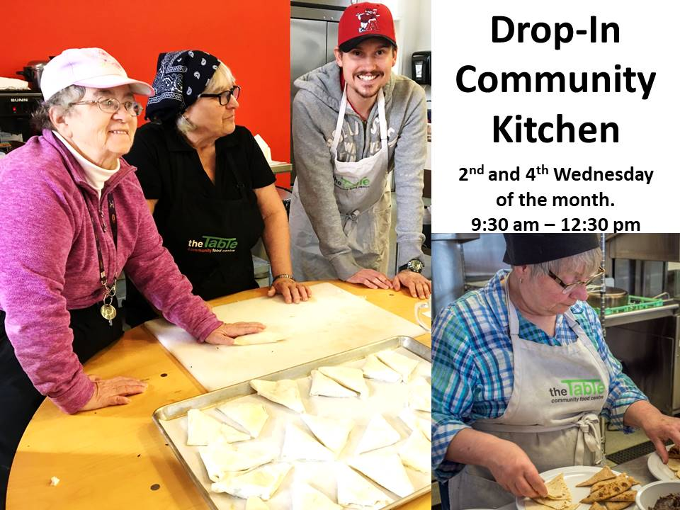 Drop in Community Kitchen Every 2nd and 4th Wednesday