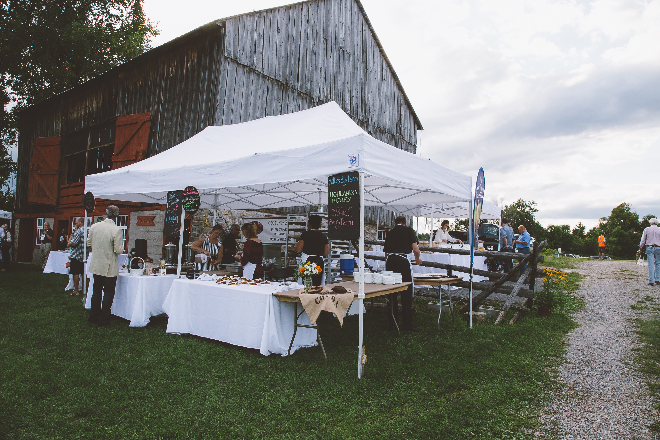 Barns Farms and Wicked Chefs Food Tent and Barn