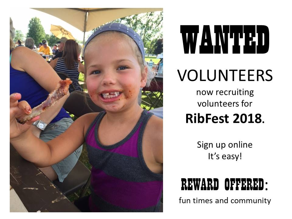 Volunteers Wanted for Ribfest 2018
